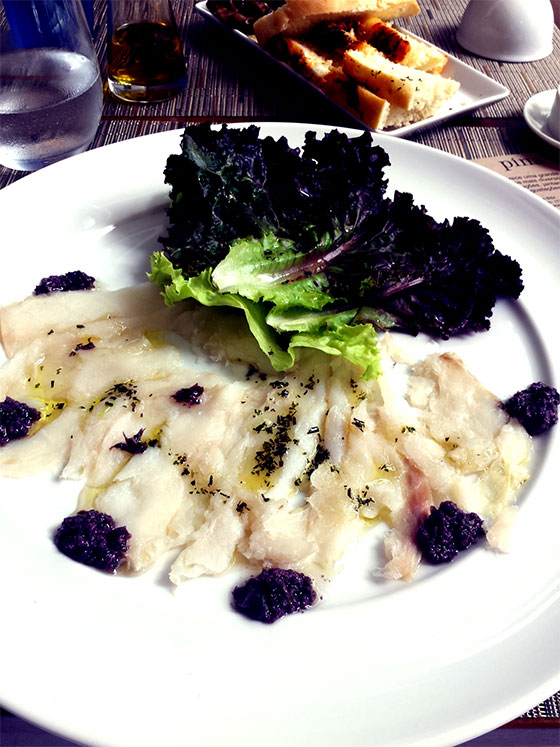 carpaccio de bacalhau do pina